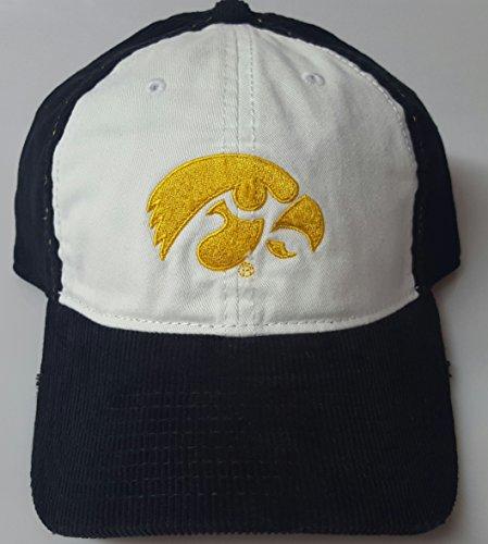 NCAA New Iowa Hawkeyes Embroidered Adjustable Back Corduroy Cap by NCAA