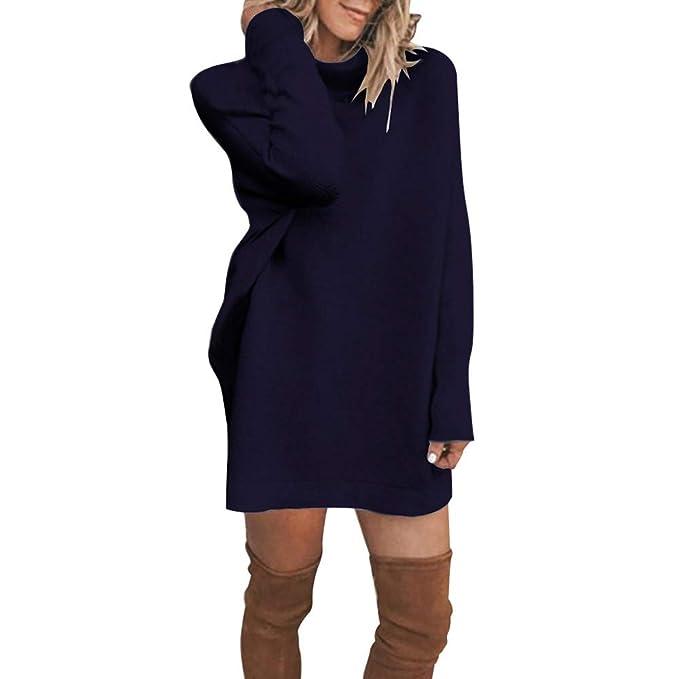 Vestito Invernale Donna✿ Autunno Invernale Maglione Vestito Sexy Senza  Spalline Maglieria Maniche Lunghe Maglione Mini Abito Felpa Donna Maglia  Elegante ... fe4f5fa4bf5