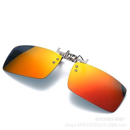 KOMNY Clips polarizados de Aluminio y magnesio B-6 Gafas de Sol para Hombres y