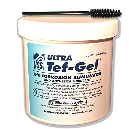 Original ULTRA Tef-Gel® - 16 OZ Tub - Stops Salt Water corrosion on all metals, works in fresh water too. Waterproof: Replaces petroleum greases that wash away. Replaces Silicone to lubricate (Resistant Salt Water Metal)
