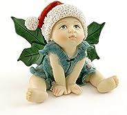 Top Collection Estatueta de bebê de fada de Natal para jardim e terrário em miniatura