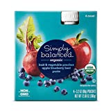 Apple Blueberry Beat Puree Pouch 4ct - Simply Balanced