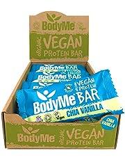 BodyMe BIOLOGISCH Veganistisch Proteine Bar | Rauwe Chia Vanille | 12 x 60g Vegan Protein Bars | 16g Compleet Eiwit | Glutenvrije | 3 Veganistische Proteïne | Alle Assentiële Aminozuren | Eiwitrepen