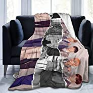 """Geinum Boys Poster Throw Blanket Warm Soft Flannel Blanket for Couch Sofa Beds 50""""X40&quo"""