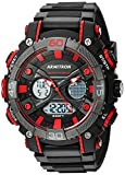 Armitron Sport Men's 20/5108RED Red Accented Analog-Digital Chronograph Black Resin Strap Watch