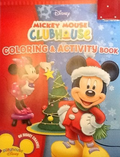 Holiday Christmas Disney Mickey Mouse Clubhouse Coloring & Activity Book! 32 ()