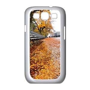 Samsung Galaxy S 3 Case, row of benches autumn Case for Samsung Galaxy S 3 White