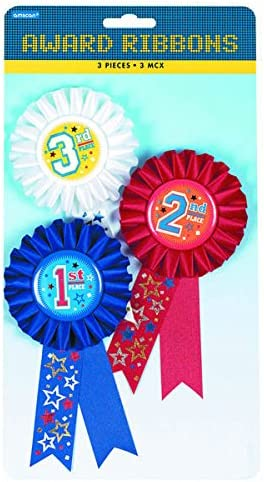 6 Sets 2nd and 3rd Place Award Ribbons 1st Party Favor