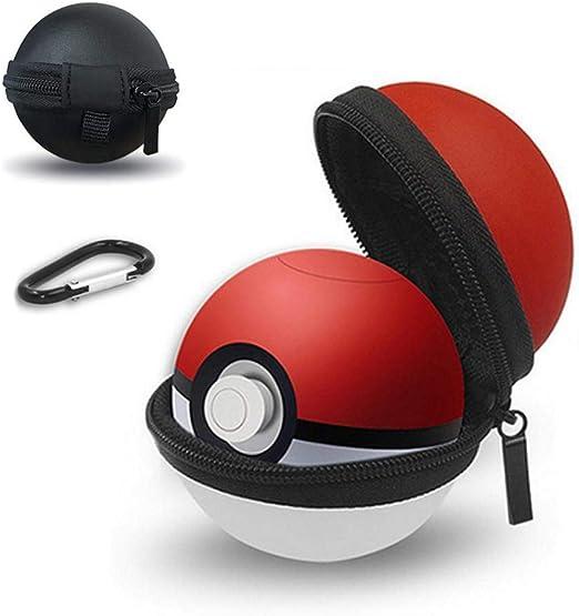 FOONEE Estuche portátil para Nintendo Switch Poke Ball Plus Controller, Estuche rígido y Bolsa de Almacenamiento con Clip de mosquetón, Kits de Accesorios Pokémon para Lets Go Pikachu Eevee Game: Amazon.es: Hogar
