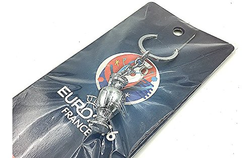 (UEFA Euro European Cup Soccer fan Victor Keychain France souvenir Mascot key lanyards France Football Gifts )