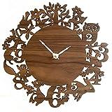 SHIQUNC Horloge Murale à Quartz Horloge Murale DéCorative Murale En Bois, 002