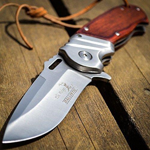 8″ ELK RIDGE Wood Hunting SPRING ASSISTED OPEN Gentleman Folding POCKET KNIFE
