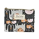 HEART SPEAKER Portable Cartoon Animal Pattern Mini Wallet Zipper Coin Purse Card Holder Bag (6#)