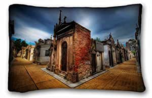 Custom ( City Armenia city Yerevan Men ) Pillowcase Cushion Cover Design Standard Size 20x30 inches One Sides suitable for King-bed PC-Green-35205