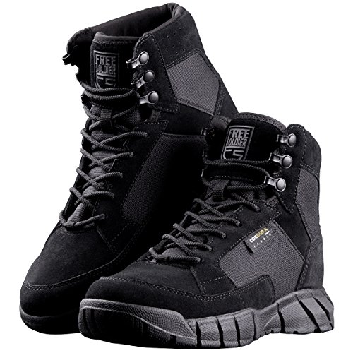 FREE SOLDIER Men's Tactical Boots 6 Inches Lightweight Military Boots for Hiking Work Boots Breathable Desert Boots (Black, 10) (Best Comfortable Hiking Boots)