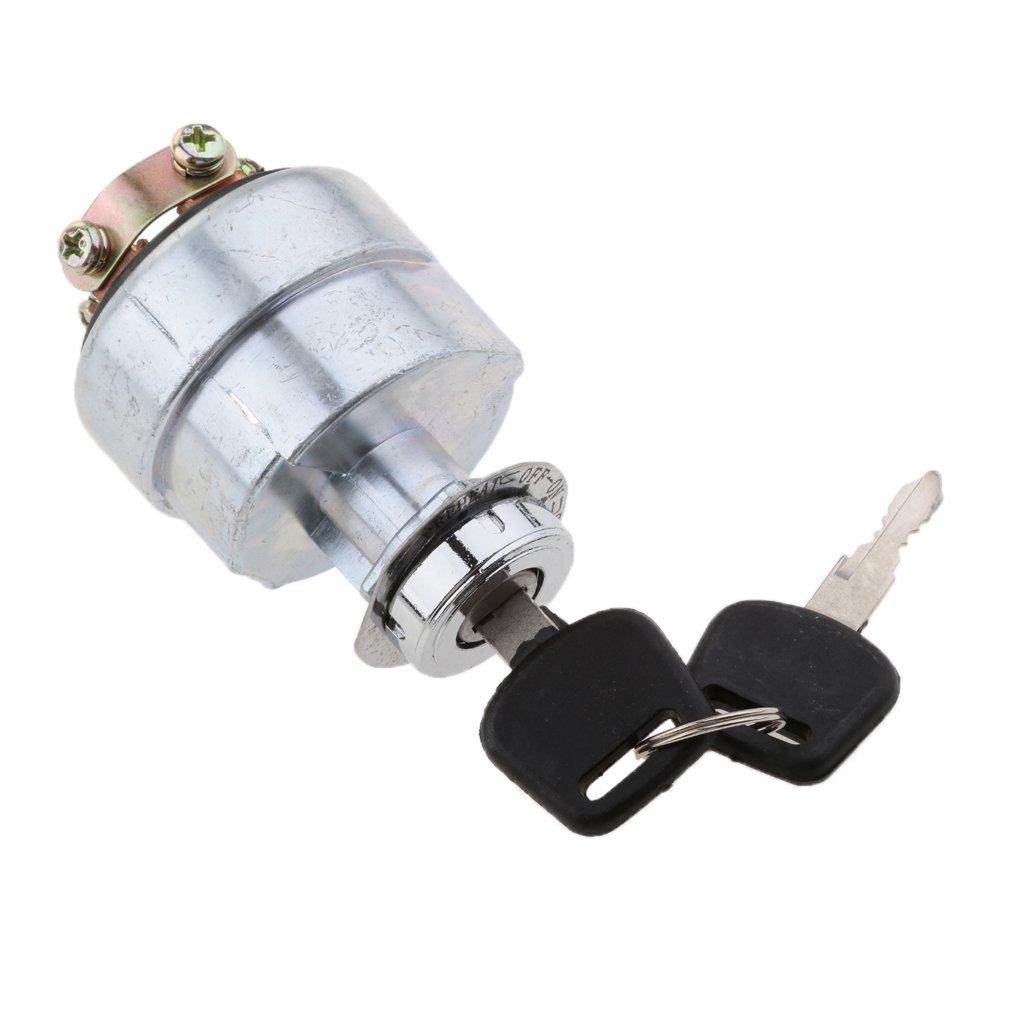 Sharplace 1 Stk. Universal Zündschlussel Schalter mit 2 Stücke Schlüsseln für LKW, Traktoren