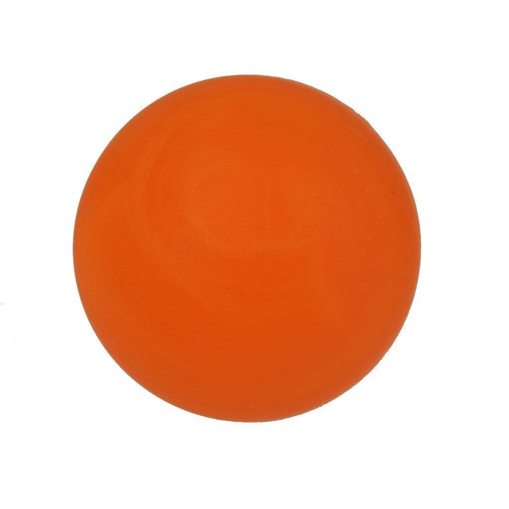 Sookg - Pelota de Masaje de Goma, para Gimnasio, casa, Ejercicio y Terapia Corporal, 7 Colores, Color Naranja