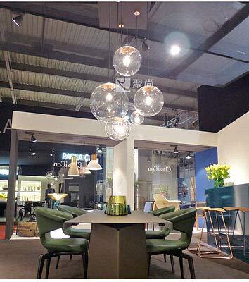 FidgetGear E27 Vintage LED Pendant Light Ceiling Lamp Transparent Glass Chandelier by FidgetGear (Image #7)