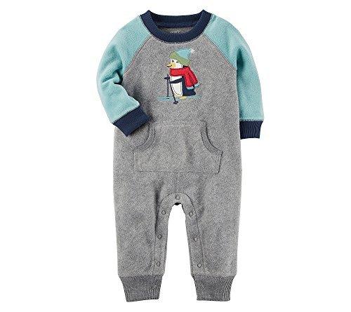Colorblock Suit (Carter's Baby Boys' Fleece Colorblock Jumpsuit 3 Months)