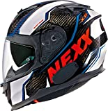 Nexx x.t1 Raptor Carbon Full Face Helmet White/Red Large