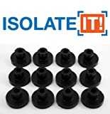 Isolate It!: Sorbothane Vibration Isolation Bushing 50 Duro (.25'' ID - 1'' OD - .6'' Deep) - 12 Pack