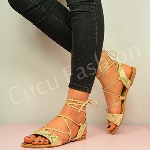 Cucu Fashion - Zapatos con tacón mujer Beige - beige