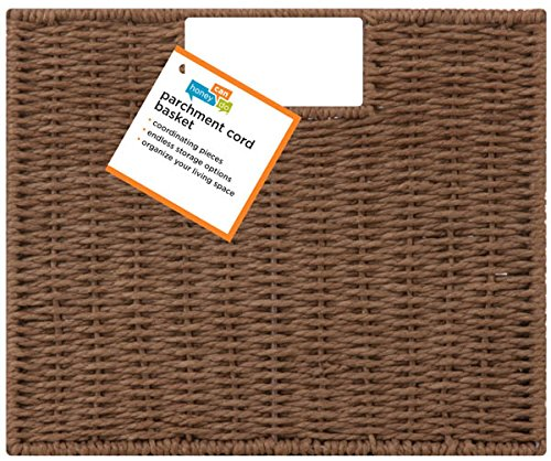 Honey-Can-Do STO-03567 Parchment Cord Crate with Handles, Brown, 12.2 x 13 x 10 inches by Honey-Can-Do (Image #2)