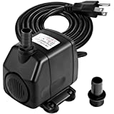 submersible pump oak leaf water fountain pump aquarium pump with max 98ft high lift 2 nozzles u0026 59ft power cord for tanks ponds