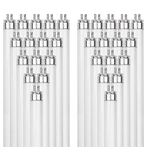 Sunlite F14T5/835 14-Watt T5 Linear Fluorescent Light Bulb Mini Bi Pin Base, 3500K, 40-Pack ()