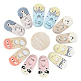 Pinksee 6 Pairs Toddler Girl Baby Socks For 1-3 Year Anti Skid Ballet Sock With Strap