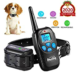 Fettish Dog Training Collar With Remote 2019 Upgraded Dog Shock Collar Waterproof No Barking With Led Lightbeepvibrationshock Harmless Safe Electronic Collar For Small Medium Large Dogs