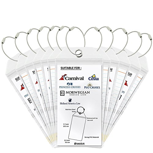 Cruise Tags 2/4/6/8/12 Pcs - PVC Luggage Tags With Zip Seal&Steel Loops For Cruise Ships (Best Printer For Designers 2019)