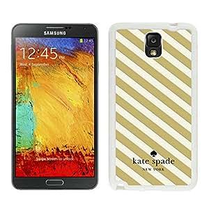 New Fashion Custom Designed Kate Spade Samsung Galaxy Note 3 N900A N900V N900P N900T White Phone Case Cover 002