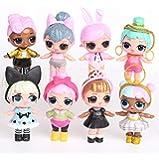 مجسمات ألعاب شخصية أكشن لول دولز بيبي صغيرة من بيبك 8 قطع مع لباس الاميرة والاحذية وماء للشرب للاطفال للفتيات لهدايا عيد…