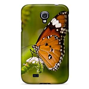 Slim Fit Tpu Protector Shock Absorbent Bumper Butterfly V4 Case For Galaxy S4