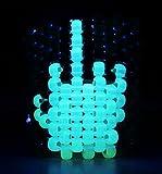 Glow in the Dark Middle Finger Kandi Cuff, Kandi Bracelet, Rave, Edm, Plur, Edc