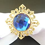 ZideTang Rhinestone Metal Napkin Ring Color Dark Blue Pack of 100