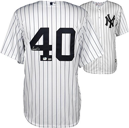 Luis Severino New York Yankees Autographed White Replica Jersey - Fanatics Authentic Certified - Autographed MLB Jerseys