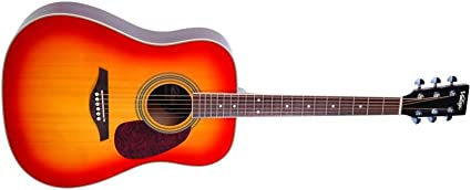 Vintage V400 Series acústica dreadnought guitarra occidental ...