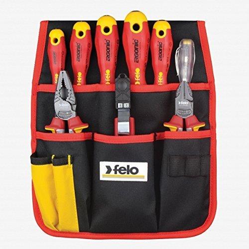 Felo 9 Piece 1000-Volt Insulated Screwdriver/Pliers/Cutters/