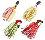 JSHANMEI Spinnerbait Fishing Lures Buzzbait Swimbait Hard Metal Spinner Bait Kit Jigs Bass Trout Salmon