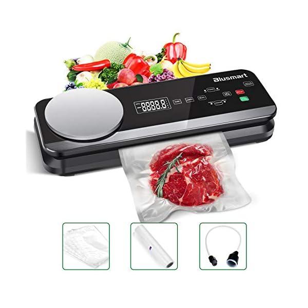 Macchina Sottovuoto per Alimenti Automatica Blusmart 80Kpa Macchina Sigillatrici con bilance da cucina integrate e… 1