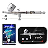 Master Airbrush G233-SET Multi-Purpose Precision Dual-Action Gravity Feed Airbrush Professional Set