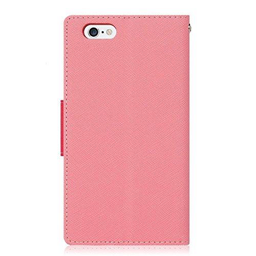 iPhone 7 Hülle, [Fancy diary] VENTER® [Wallet Hülle] Glatte Kunstleder Textur [ID Card & Cash-Slot] w / Standplatz -Abdeckung für iPhone 7