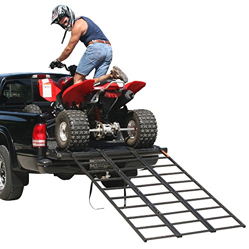 Rage Powersports ST-TF-7449 Steel Tri-Fold ATV Loading Ramp (74' Portable)