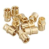 5 8 bullet plugs - Dimart 10 Pairs 8.0mm Copper Bullet Banana Plug Connector Male Female for RC Toys