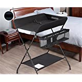 Nationwel@ Baby Changing Table/Touch Table Multifunction Finishing Table 0~3 Years Old Baby Collapsible Massage Table Nursing Desk/Gray/Beige/Black Three Color Optional Suitable for 145~165 cm Crow