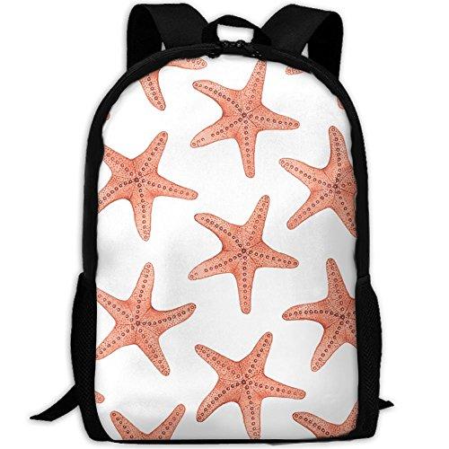 Orange Star Backpack Briefcase Laptop Travel Hiking School Bags Stylish Daypacks Shoulder (Anise Drawstring)
