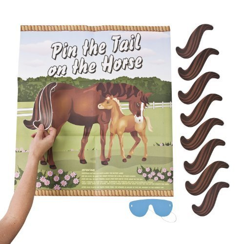 Pin the Tail on the Horse Game Set by Fun -