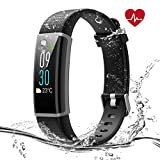 Syncwire Fitness Tracker HR [Colorful Screen] Activity Tracker Watch with IP68 Waterproof, Heart Rate Monitor, Sleep Monitor, Calories Counter, Pedometer Watch for Kids Women and Men, Android and iOS